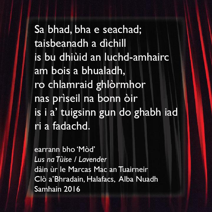 Mòd - poem excerpt