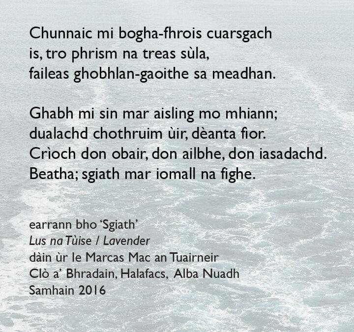 Sgiath / Wing – poem excerpt
