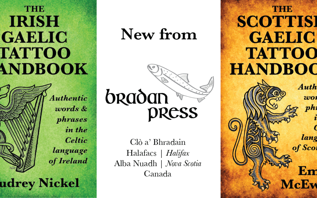 Price of Scottish Gaelic & Irish Tattoo Handbooks increasing in 2019