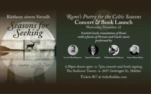 Ràithean airson Sireadh / Seasons for Seeking concert book launch concert