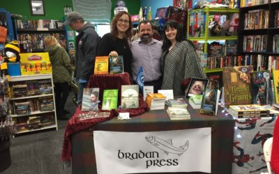 Book signing with three Bradan Press authors