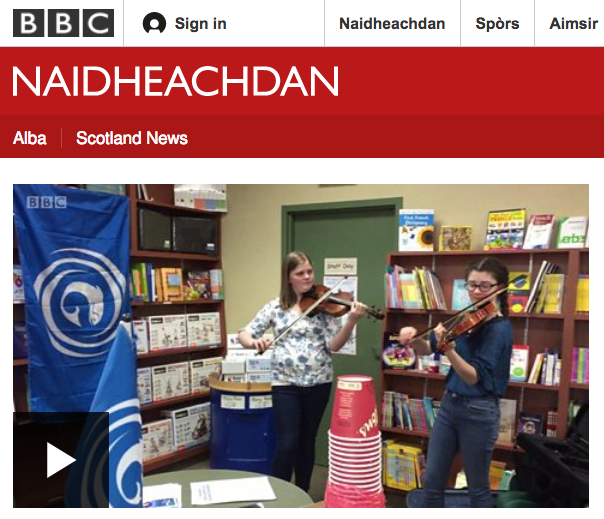 Bradan Press author Dr. Emily McEwan interviewed by BBC Alba