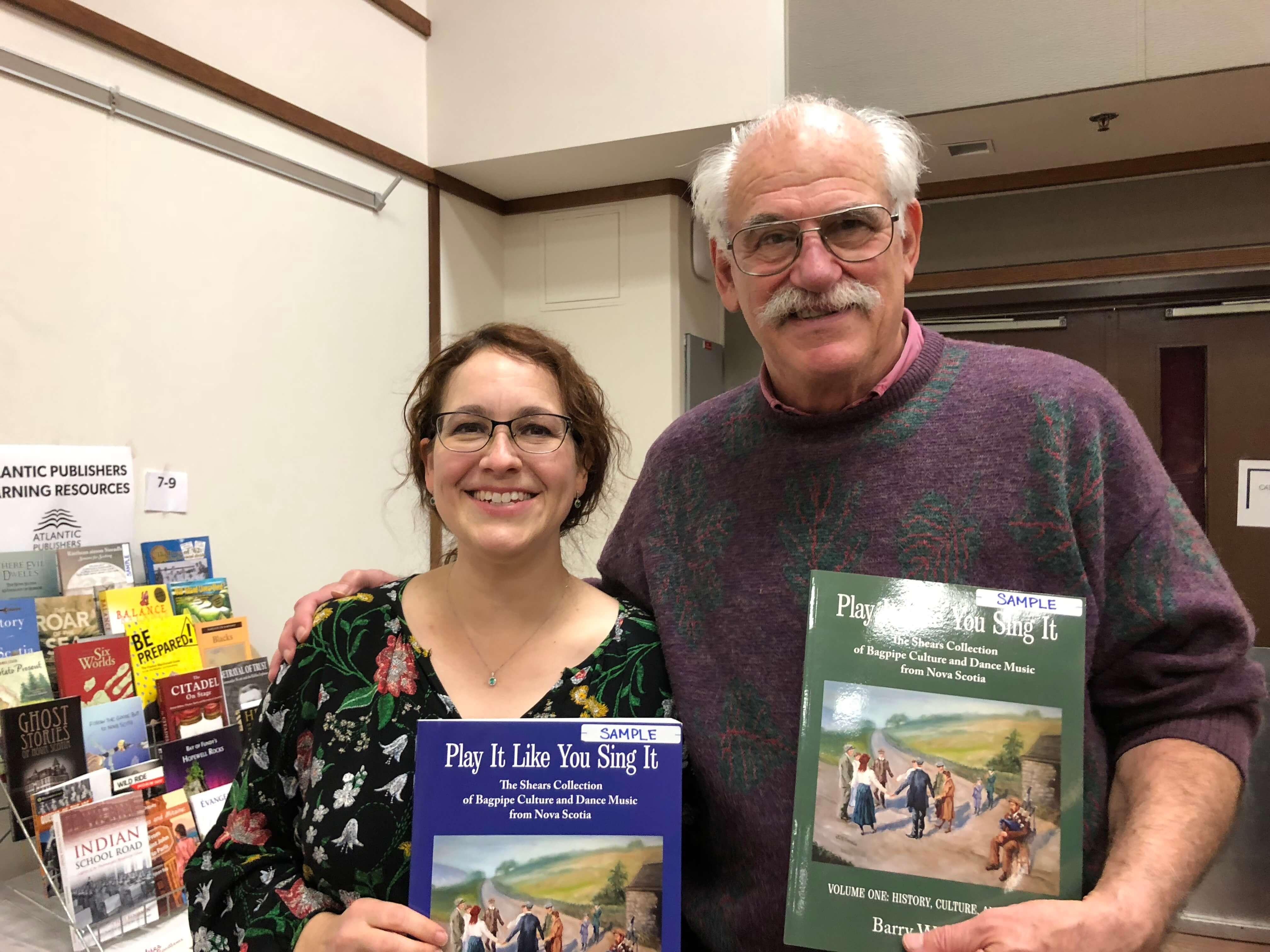 Bradan Press president Emily McEwan and Ron Caplan of Breton Books