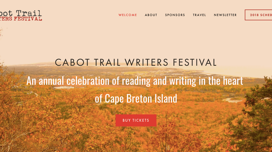 Author Lewis MacKinnon at the Cabot Trail Writers Festival