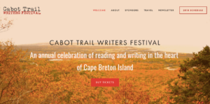Bradan Press author Lewis MacKinnon at the Cabot Trail Writers Festival 2018