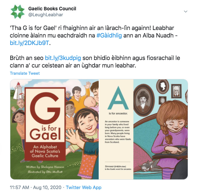 G is for Gael: Now Available from the Gaelic Books Council!