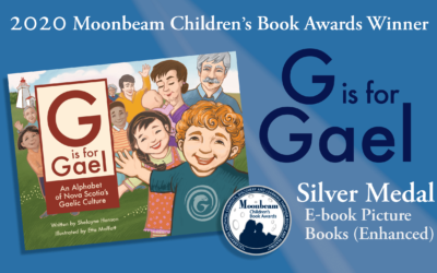 G is for Gael wins 2020 Moonbeam Children's Book Award