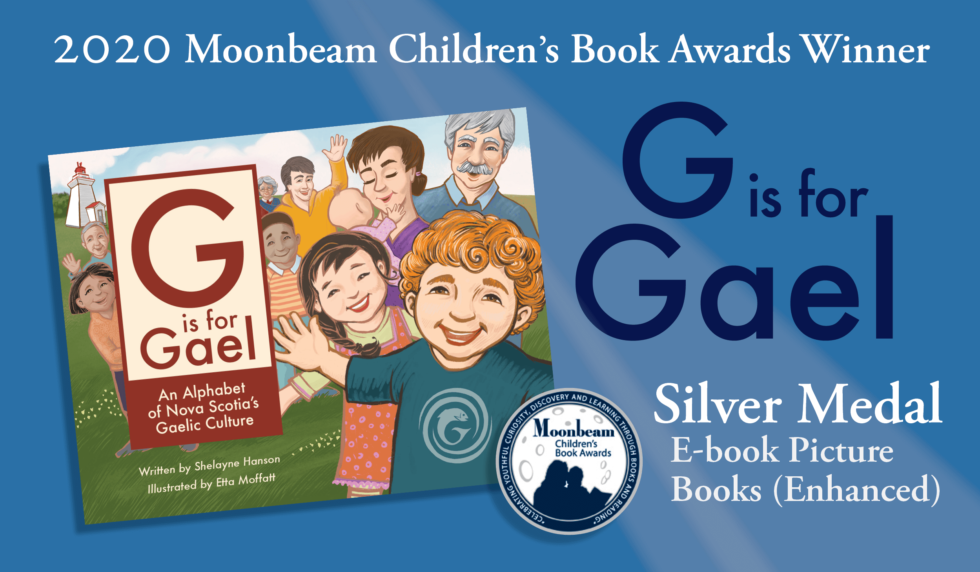 G is for Gael wins 2020 Moonbeam Children's Book Award