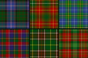 Provincial tartans of Ontario, Quebec, New Brunswick, Prince Edward Island, Nova Scotia, and Newfoundland & Labrador
