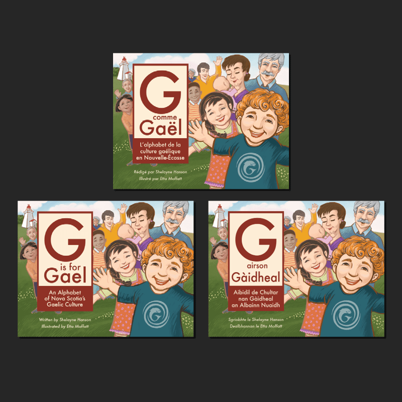 G is for Gael in English, French, and Gaelic