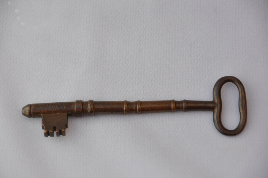 Roderick MacKay's key to the Inverness jail, McCulloch House Museum, Pictou, NS